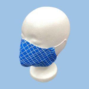 Community Maske - Karo blau